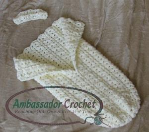 Kristine Mullen | Ambassador Crochet | Cluster of Love Cocoon and Crown Set