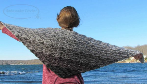 Kristine Mullen | Ambassador Crochet | Gray Skies Gradient Shawl