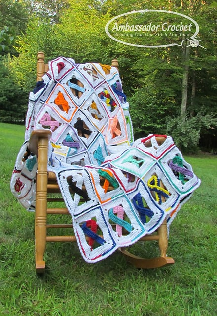 Kristine Mullen | Ambassador Crochet | Awareness Ribbon Afghan Project