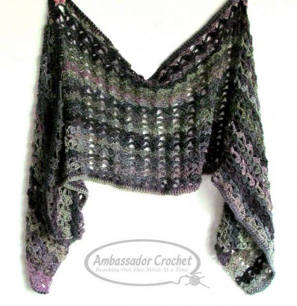Kristine Mullen | Ambassador Crochet | Majestic Ivy Wrap