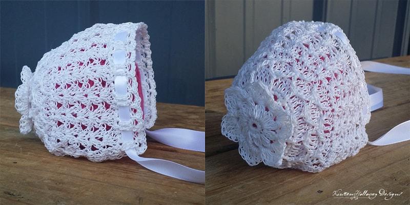 Lavender Blue Baby Bonnet - Thread Crochet - Kirsten Holloway