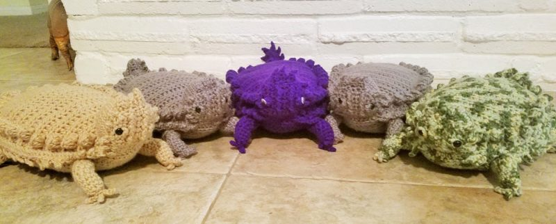 Horny Toad Plush Toy by Lisa Ferrel