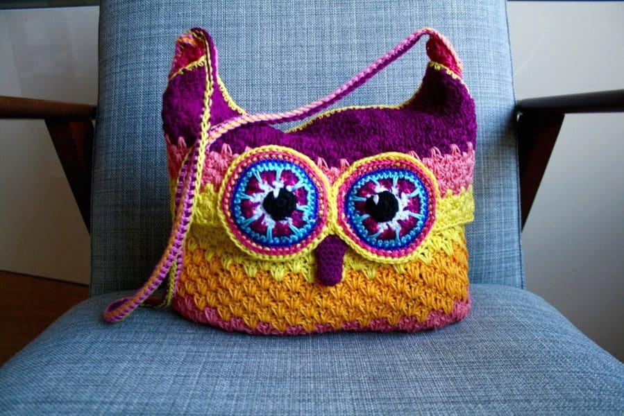 Owl Purse 254 by Luz Mendoza