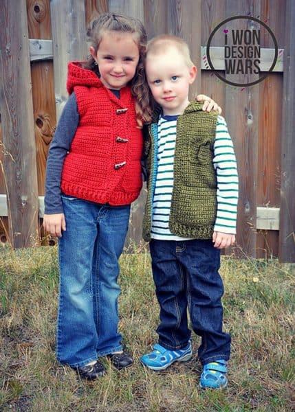 Marek Puffy Vest - Crochet - by Sincerely Pam