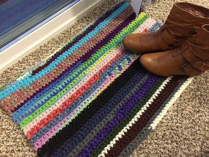 Scraf Rug - Crochet - Sara Leighton