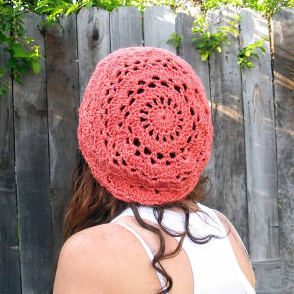 Pineapple Coconut Slouchy Hat - Crochet - Julie King
