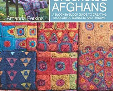 Rainbow Crocheted Afghans by Amanda Perkins (Search Press)
