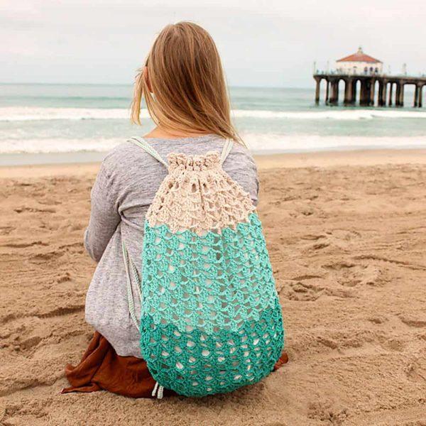 Seafoam Beach Backpack - Crochet - Julie King