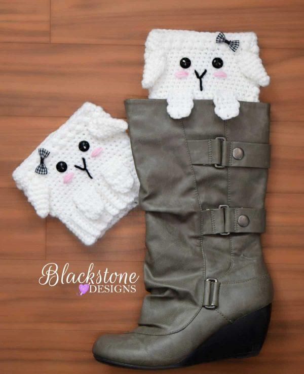 Sonya Blackstone | Blackstone Designs | Peeping Sheep Boot Cuffs