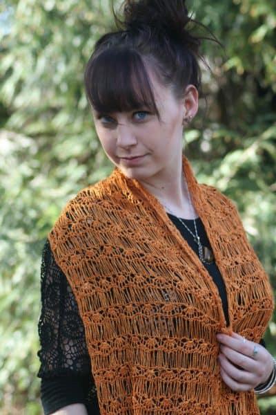 Summer Rays Drop Stitch Wrap - Linda Dean