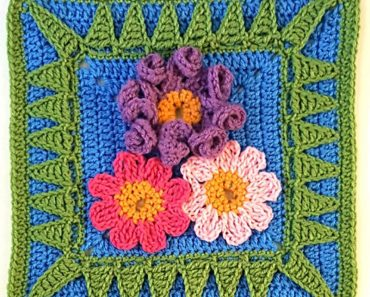 "That One Sister - 12"" Square Crochet - by Melinda Miller"