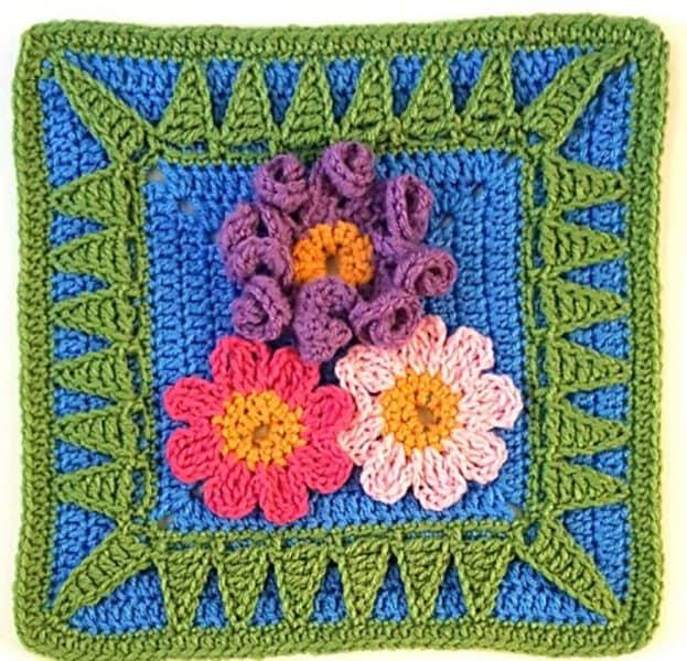 "That One Sister - 12"" Square Crochet - by Melinda Miller"