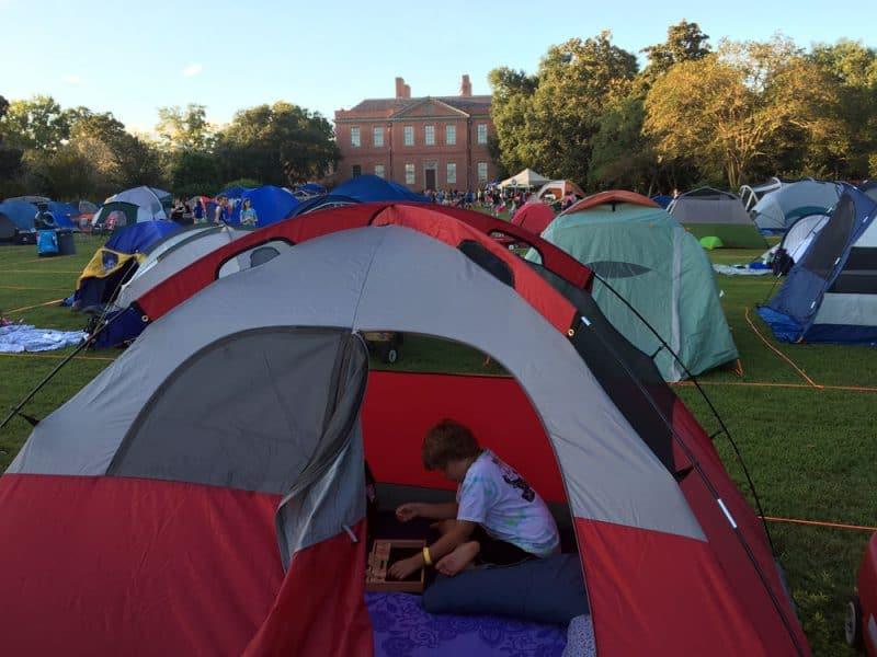 Tryon Palace Camping