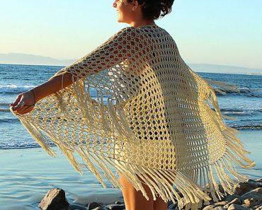 XOXO Kimono - Crochet - by Julie King