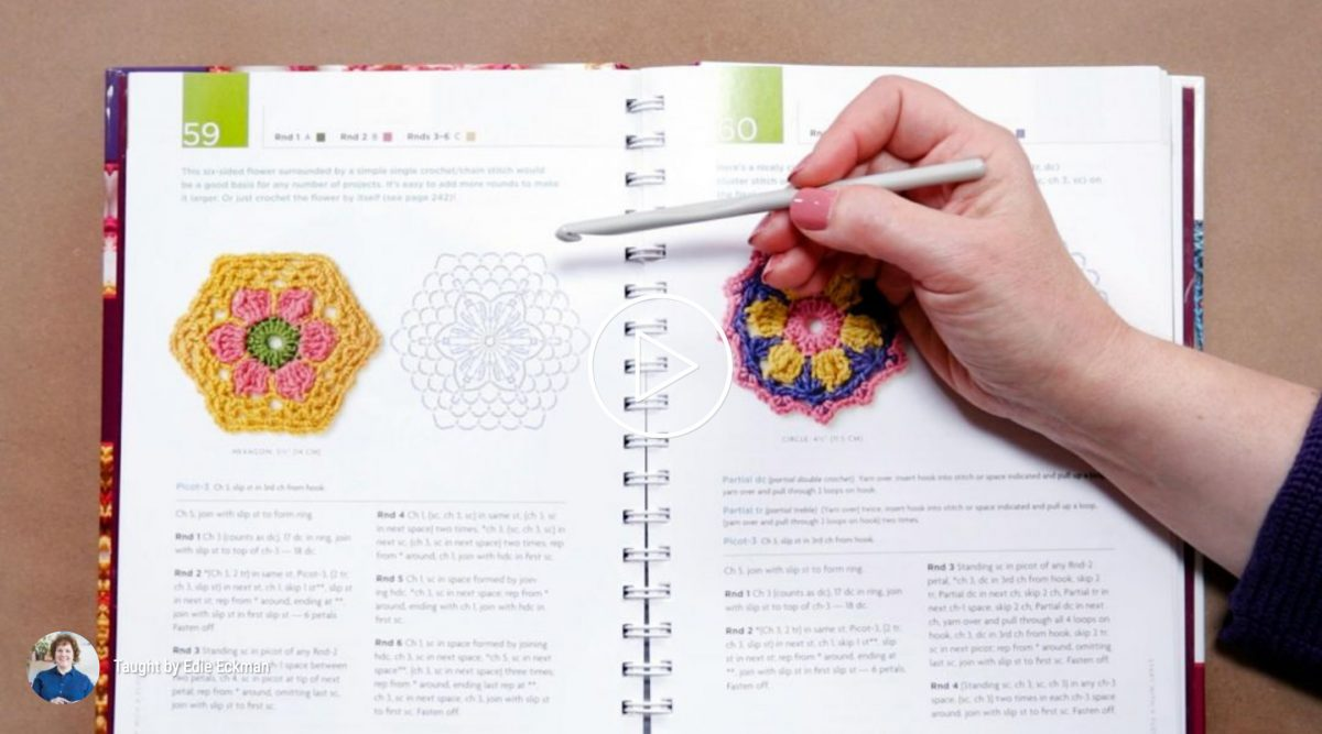 Edie Eckman, Featured Crochet Teacher